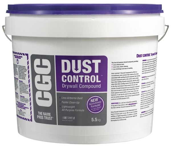 Dust Control Compound : Cgc dust control drywall compound ready mixed kg pail