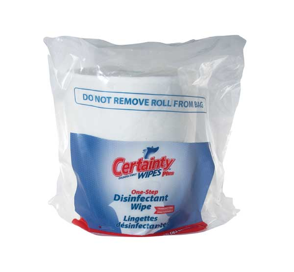 Certainty Disinfectant Wipes 2 Rolls X 800 Wipes 9685mm