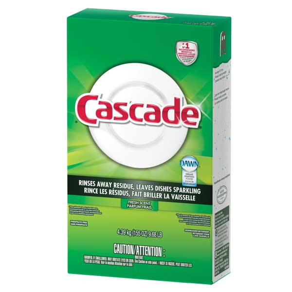 Cascade Pure Rinse Powder Dishwasher Detergent Fresh