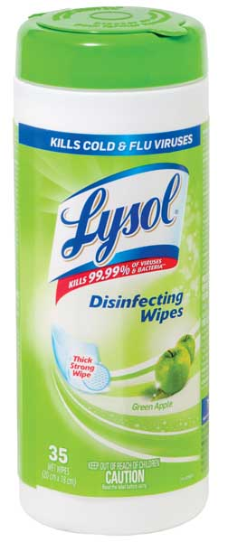 Lysol Disinfecting Wipes Green Apple 35 Wipes Tub H Amp S