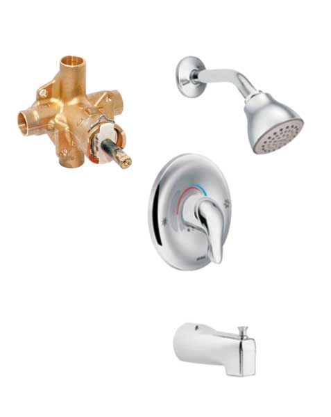Moen Chateau Single Lever Tub U0026 Shower Faucet