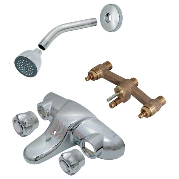 Waltec Facemount Trim Kit For 2 Handle Tub Amp Shower Faucet