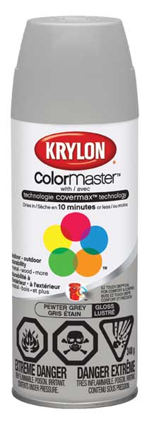 Krylon Colormaster Spray Paint Gloss Pewter Grey H Amp S
